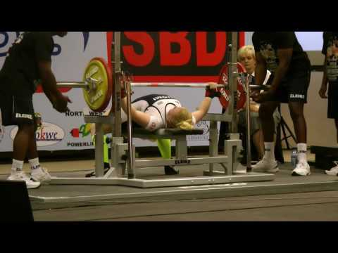 Johanna Kankus 105 kg World Bench Press Championships 2016 Potchefstroom