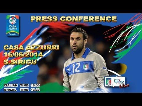 Salvatore Sirigu - L'intera conferenza stampa da Casa Azzurri