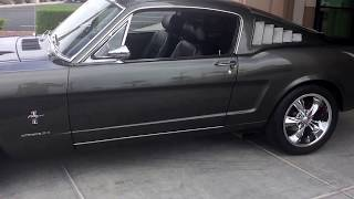 1965 Ford Mustang fastback restomod.