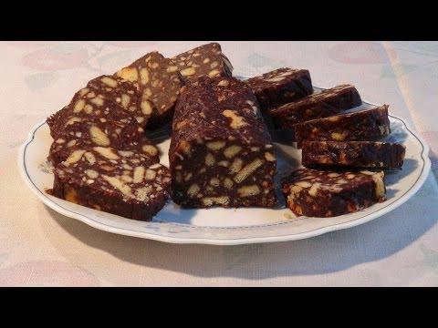 Как приготовить шоколадную колбасу - видео