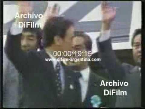 DiFilm - Toshiki Kaifu initiate a diplomatic tour USA 1989