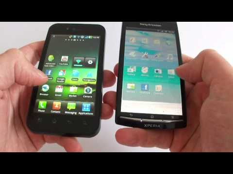 LG Optimus Black P970 versus Sony Ericsson Xperia arc