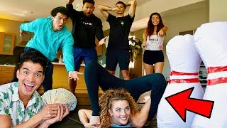 Bowling with A Human Bowling Ball for $10000 ft Sofie Dossi