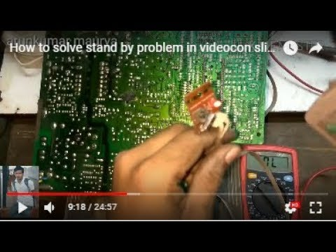 How to solve stand by problem in videocon slim tv step by step solution