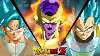Freezer Golden vs Goku Dios Super Sayayin