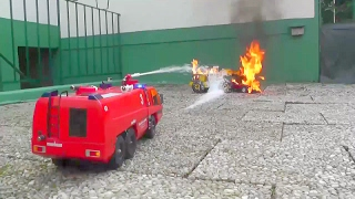 HEAVY RC  FIRE! RC Panther 6x6! RC MACHINES FOR KIDS! RC FIRE TRUCKS! RC LIVE ACTION