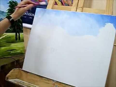 Como pintar uma tela abstrata
