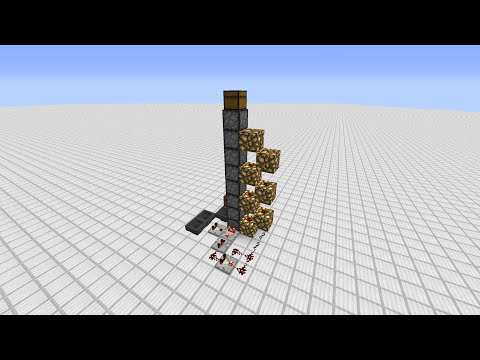 Minecraft Item Elevator - Silent with automatic clock control! | Docm77