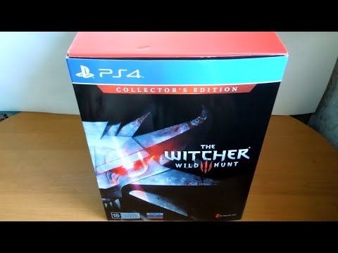 The Witcher 3: Wild Hunt Collector's Edition распаковка (unboxing)