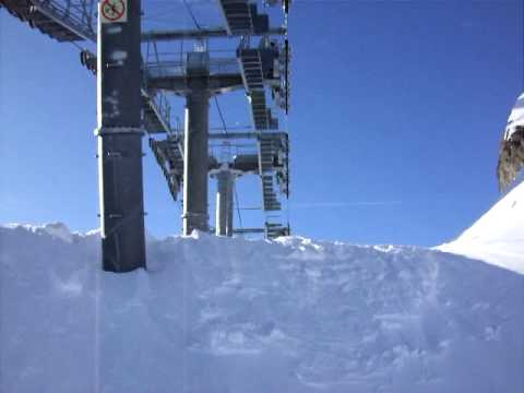 world scariest chair lift, Val d'Isere, France Music Videos