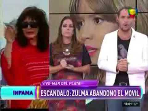 Zulma Faiad abandonó un móvil de Infama