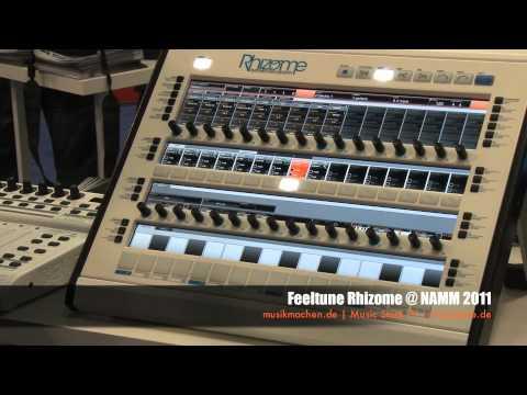 Feeltune Rhizome Groovebox @ NAMM 2011 (francais)