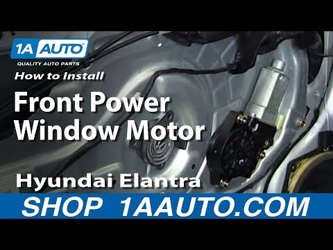 How To Install Replace Front Power Window Motor 2001-06 Hyundai Elantra