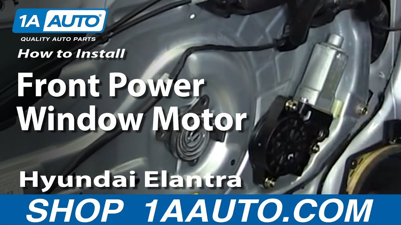 How to install replace front power window motor 2001 06 hyundai elantra youtube Car window motor replacement