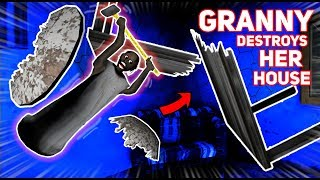 GRANNY BREAKS EVERYTHING IN HER OWN HOUSE!!!   Granny The Mobile Horror Game (Knock Offs/Rip Offs)