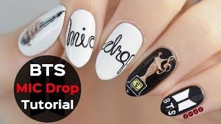 "BTS ""MIC Drop"" Nail Art Tutorial"