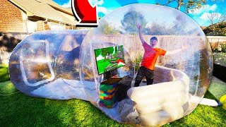 GIANT BUBBLE TENT WITH GAMING SETUP!
