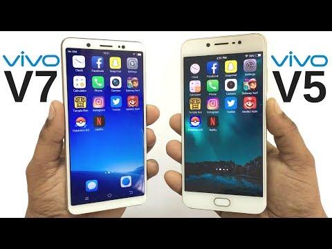 Vivo V7 vs Vivo V5 Speed Test!