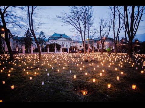 Pred Úradom vlády sme zapálili 5 000 sviečok za 5 000 obetí odvrátiteľných úmrtí - YouTube