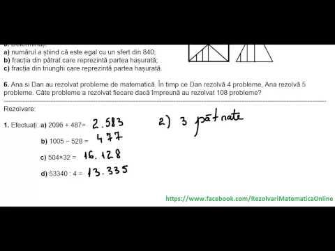 Clasa a V-a - Teste de evaluare initiala - test 2 (partea I)