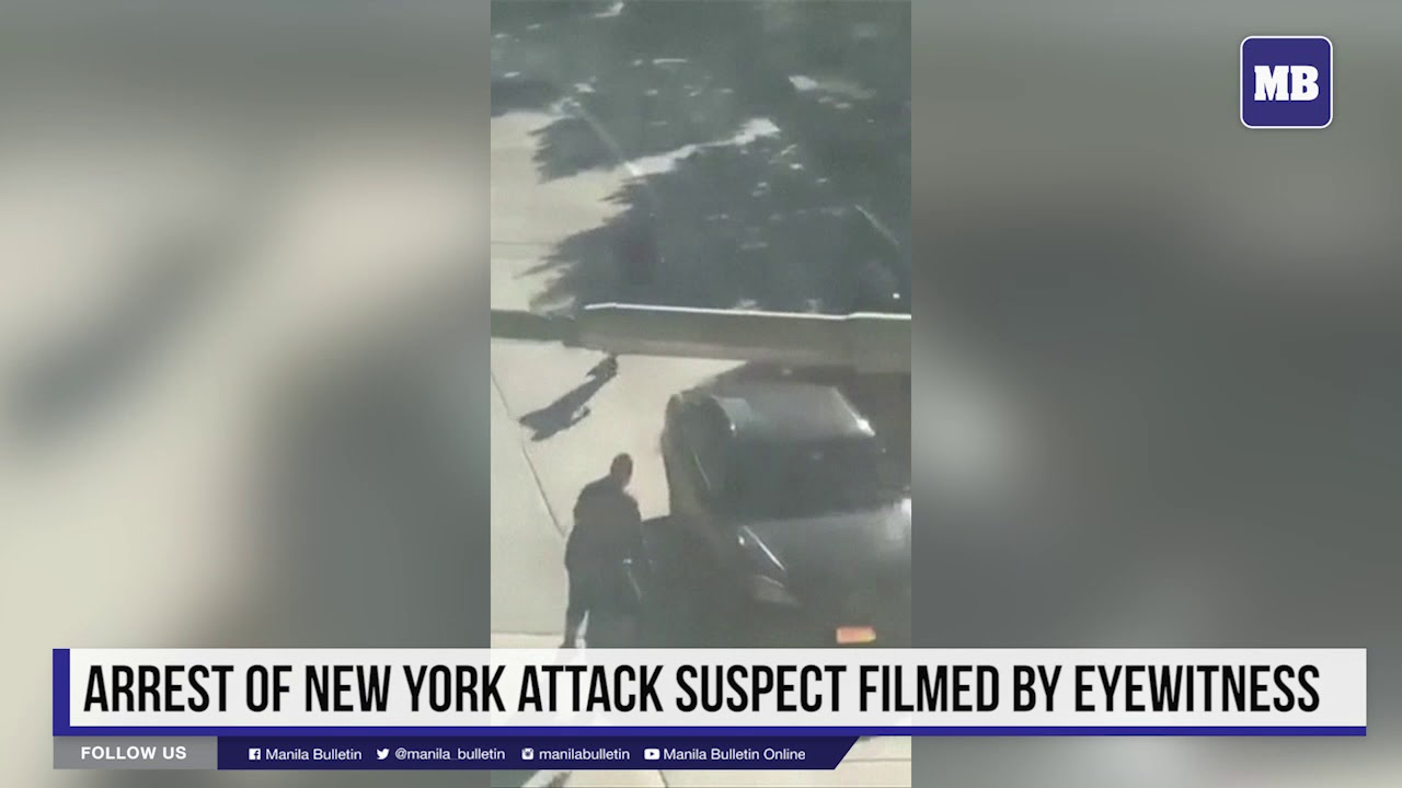 Arrest of New York attack suspect filmed by eyewitness