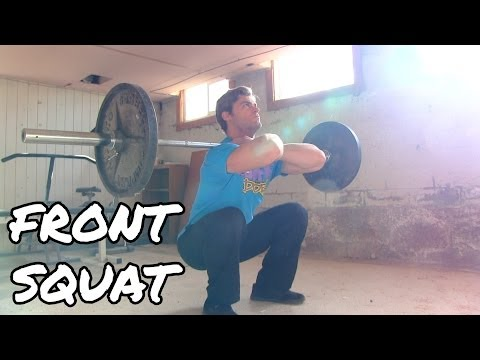 How to Perform the Front Squat - Quads Exercise Tutorial Image 1