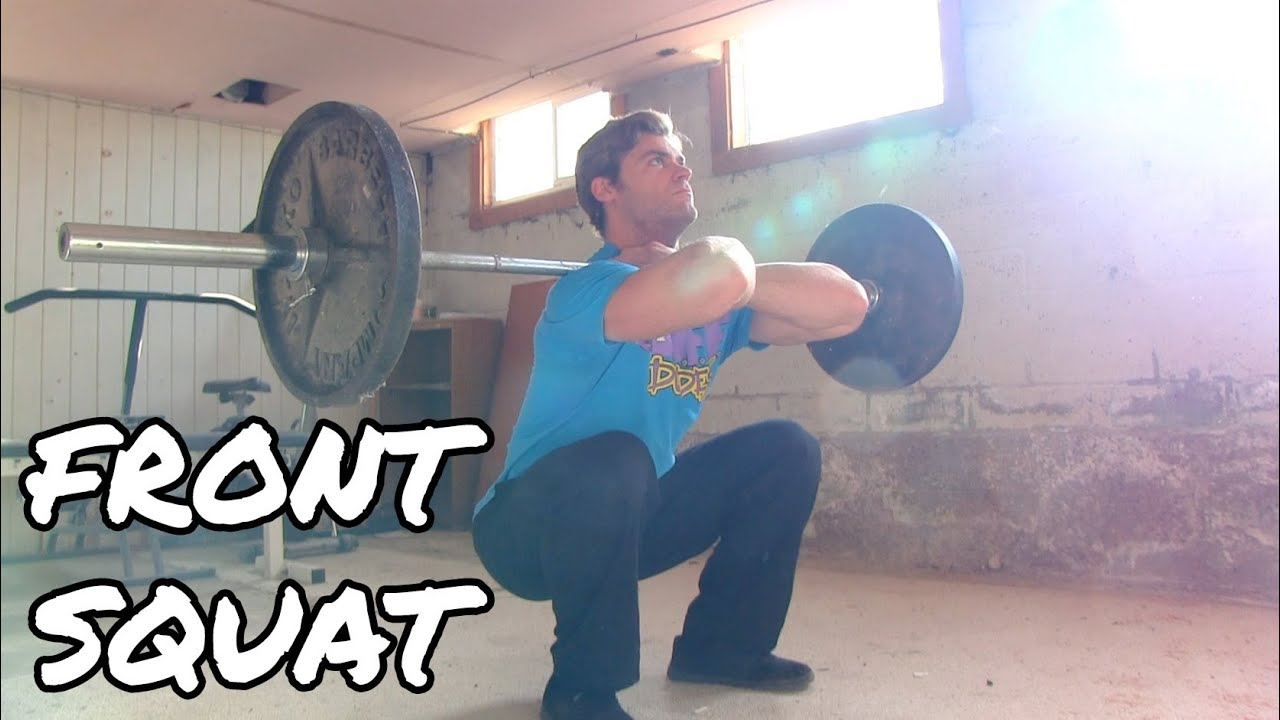 How to Perform the Front Squat - Quads Exercise Tutorial - YouTube | 1672 x 941 jpeg 158kB