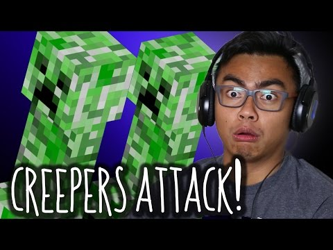 CREEPERS KILLED ME! | Minecraft Part 2