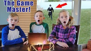 The Game Master! Opening The Mystery Box & Secret Clues! Box Fort Teleport Pt 3