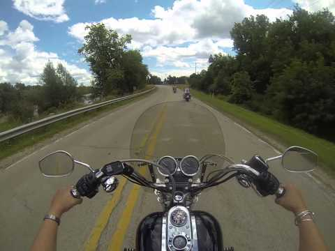 Motorcycle Ride outside of Fremont, WI