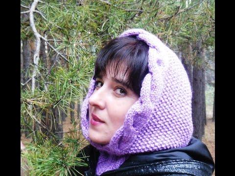 Мастер-класс по вязанию женского капора спицами