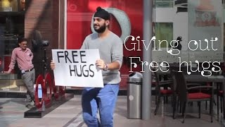 Giving out free hugs!