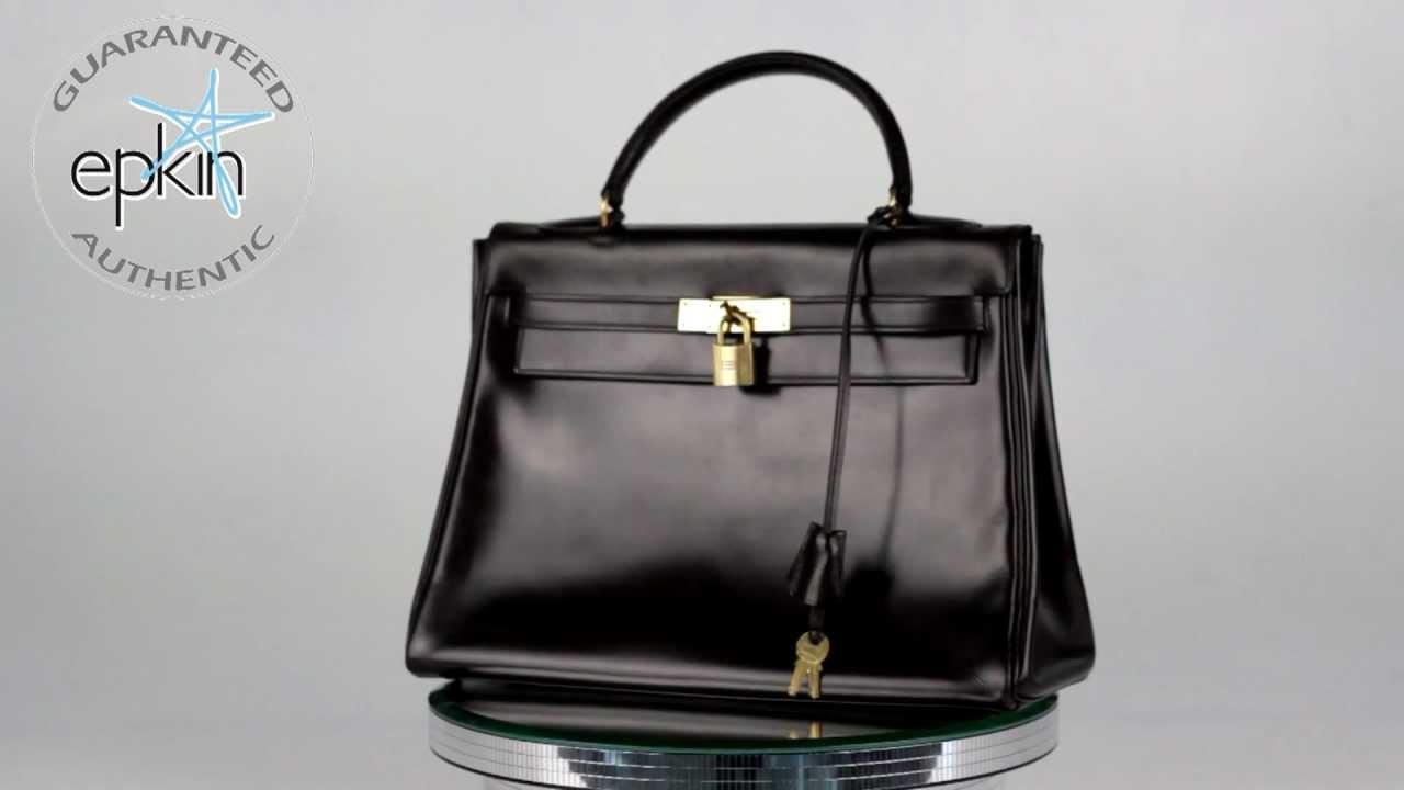 Hermes Birkin Box Calf Leather Hermes Kelly 32 cm Box Calf