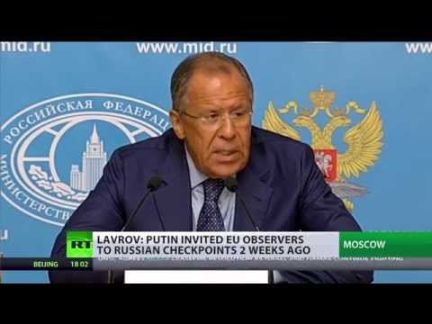 Russia\'s Foreign Minister says the groundless allegations against Moscow over Ukraine need to stop, but insists there will be no tit-for-tat response to any Western sanctions. With a look at what else Sergey Lavrov had to say at a media briefing - RT's Marina Kosareva. READ MORE: http://on.rt.com/liin8m   RT LIVE http://rt.com/on-air  Subscribe to RT! http://www.youtube.com/subscription_center?add_user=RussiaToday  Like us on Facebook http://www.facebook.com/RTnews Follow us on Twitter http://twitter.com/RT_com Follow us on Instagram http://instagram.com/rt Follow us on Google+ http://plus.google.com/+RT  RT (Russia Today) is a global news network broadcasting from Moscow and Washington studios. RT is the first news channel to break the 1 billion YouTube views benchmark.