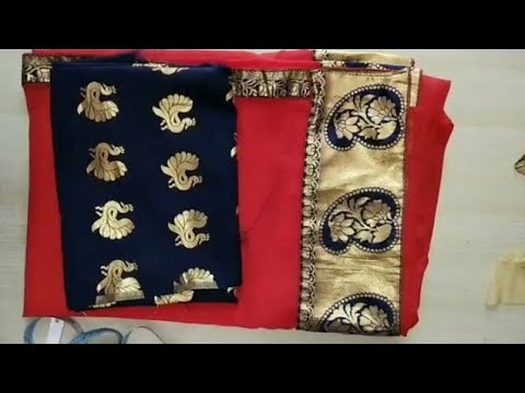 Blouse design | patchwork blouse back neck design cutting and stitching #ashwinidhoneblousedesigns