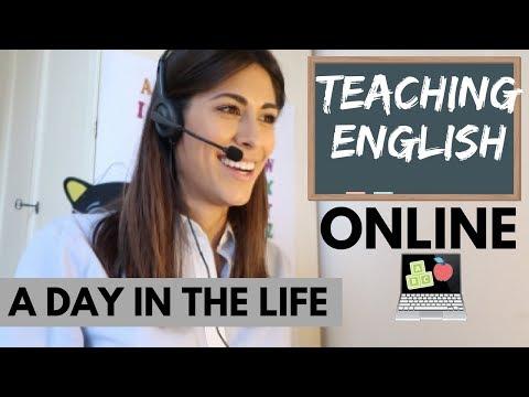 1ST DAY TEACHING ENGLISH ONLINE | VLOG (sott Ita)
