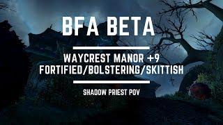 [BFA Beta] Mythic Waycrest Manor +9 - Shadow Priest PoV