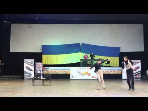 Salsa show 'Detectives' Marina Koval & Khaldoun Aboukheir (Latin Motion) - Salsamayovka 2014
