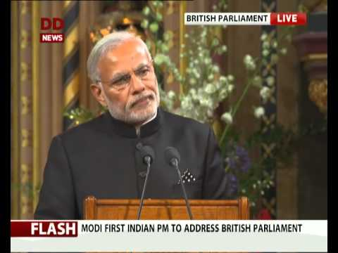 PM Modi addresses British Parliament