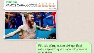 Conversacion WhatsApp grupo D Mundial de Rusia