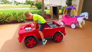 Unboxing And Assembling   The POWER WHEEL Ride On Fire Engine TRUCK for KIDS   YouTube