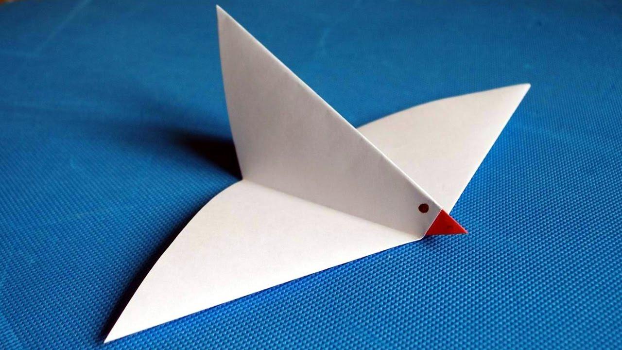 Как оригами сделать голубя мира из 383