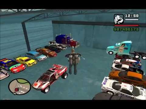 MEUS CARROS TUNADOS MINHA GARAGEM GTA SAN ANDREA 1080p FULL HD BY OLIVERA
