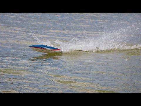 Lancha de radiocontrol LRP 420 Race. Lanchas rc de carreras Deep blue
