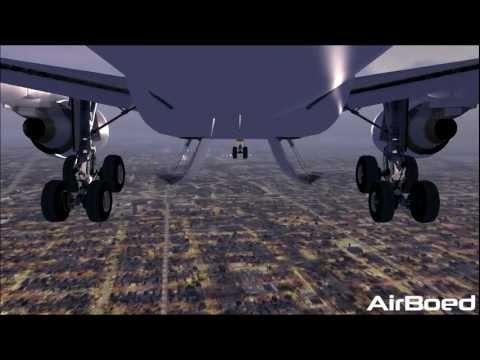 FSX HD - FedEx Airbus A330 Crosswind Sunrise Landing Memphis International Airport !!
