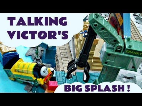 Thomas And Friends Talking Victor's Blue Mountain Mystery Big Splash Kids Toy Train set