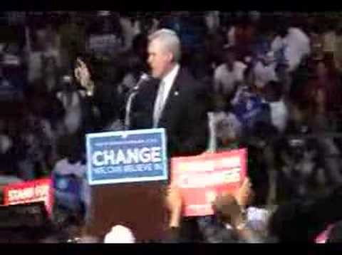 Governor Ray Mabus Speaks At Barack Obama Rally In Jackson