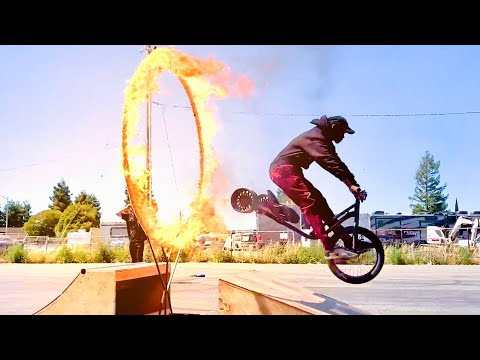 INSANE DRIFT TRIKES THROUGH THE RING OF FIRE