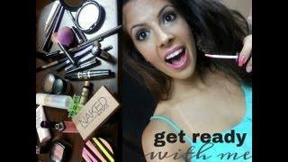 Neutral Eyes and Pink Lips Makeup Tutorial  2013