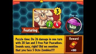 Puzzle Party !!! Daily Event 7 th November 2018 Plants vs Zombies Heroes day 2